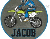 Personalized MOTOCROSS Motorcycle name Boys T shirt racing Dirt bike
