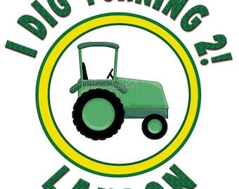 Personalized green tractor Farm boys T Shirt birthday Name Age Custom