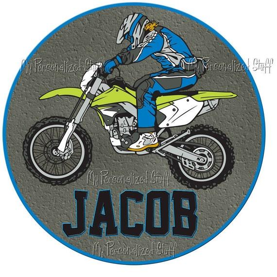 Personalized MOTOCROSS Motorcycle name Boys T shirt racing Dirt bike