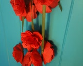 Coral Paper Flower Party Garland