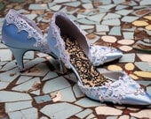 Cinderella, Something Blue Bridal shoes, many colors available