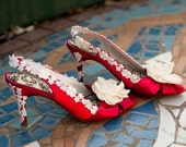 Red wedding shoes - Pick your shoe -- Ariel