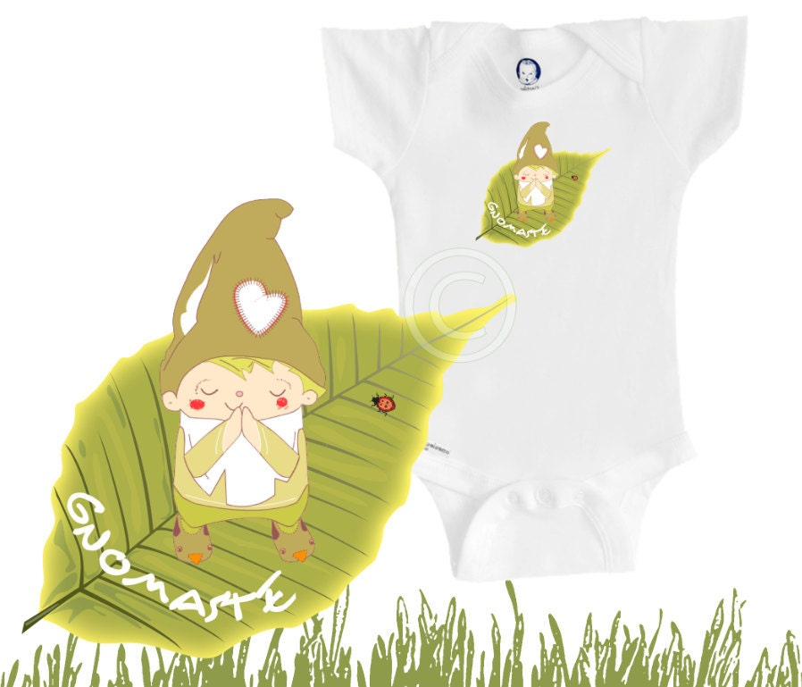 Organic Baby Clothes Namaste Yoga Onesie Gnome Funny And