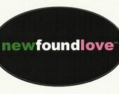 Oval Newfoundlove Sticker
