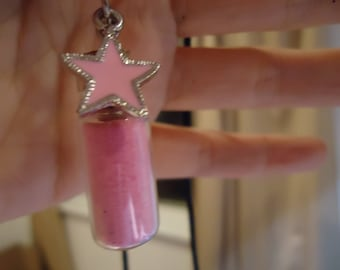 Cotton Candy vial pendant
