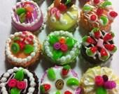 Decoden Handmade Miniature Sweet Cakes 1.5cm Set of 12pcs (Set SD)