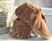 Eco Friendly Moccasins, Caramel Suede