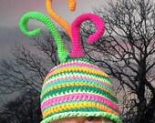Twilight Tendrils, whimsical crochet hat