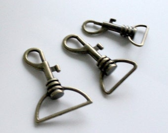 10pcs 32mm (inner diameter) antique bronze clasps hook for bag findings AC25