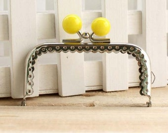 8.5cm (3.35inch)silver sewing metal purse bag frame  C13X-yellow