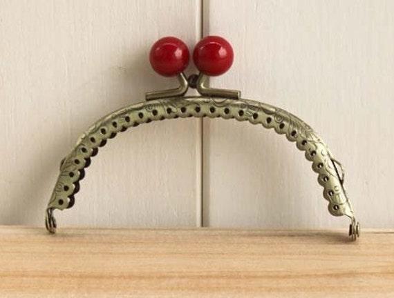 10.5cm(4.13inch) candy heads purse frames bag frame C8-red