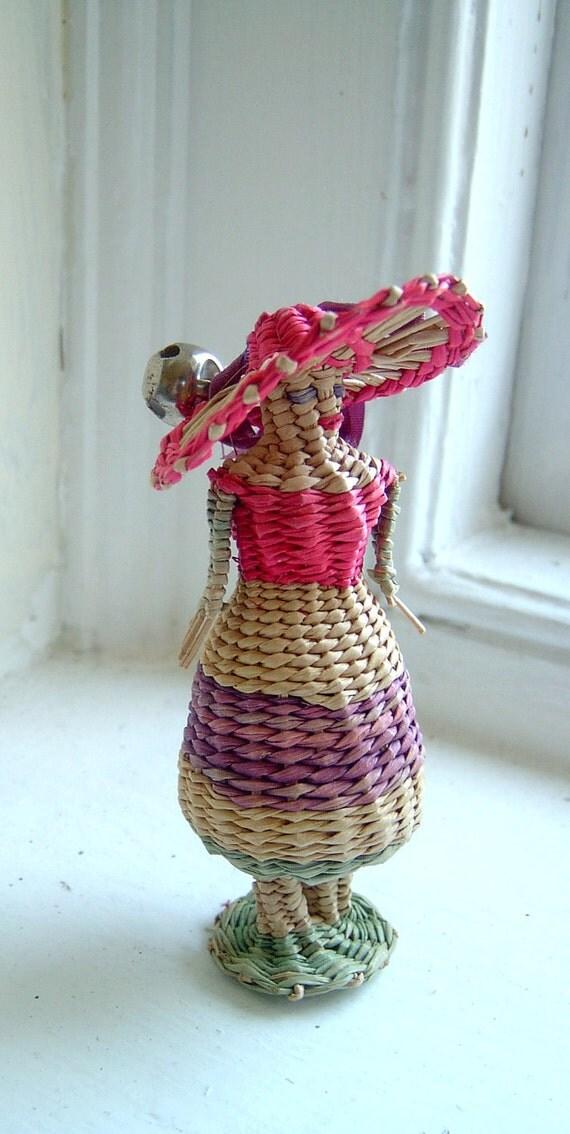 Sweet Vintage Caribbean Straw Doll