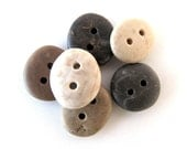 Beach Stone Buttons - DEGRADED DROPS by StoneAlone -  Pebble Buttons, Knitting Buttons, Sewing Buttons