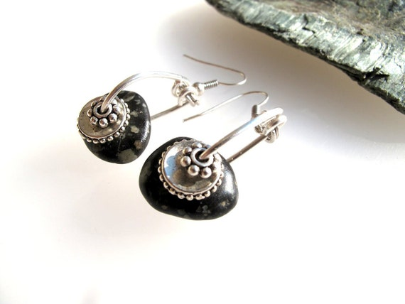Beach Stone Jewelry, Earrings - SPARKLE By StoneAlone - Natural Rock Jewelry