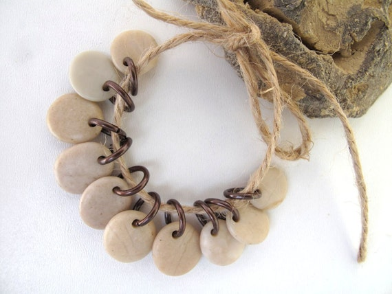 Natural Stone Beads - TINNIE MIX by StoneAlone - Beach Stone Jewelry Supplies, Stones with Open Jump Rings