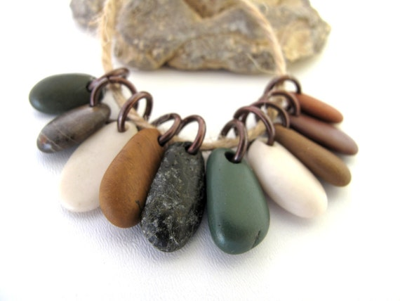 Beach Pebble Jewelry Supplies - SWEET and SOUR MIX by StoneAlone - River Rocks, Beach Stone Supplies with Open Jump Rings