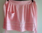 Pink Gingham Apron-Reserved for Heather