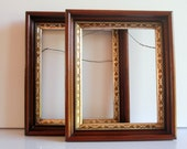 Wood Picture Frame with Gold Detail-One Frame-RESERVED FOR TAMSEN