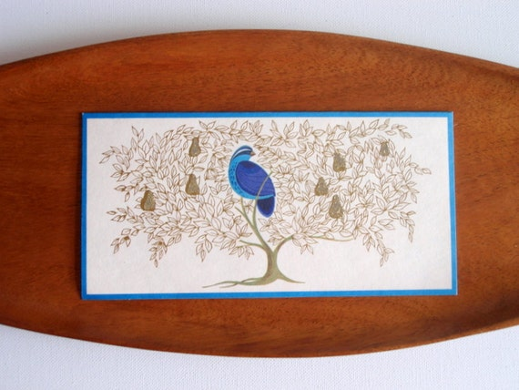 Vintage Norcross Christmas Cards-Unused-Partridge in a Pear Tree