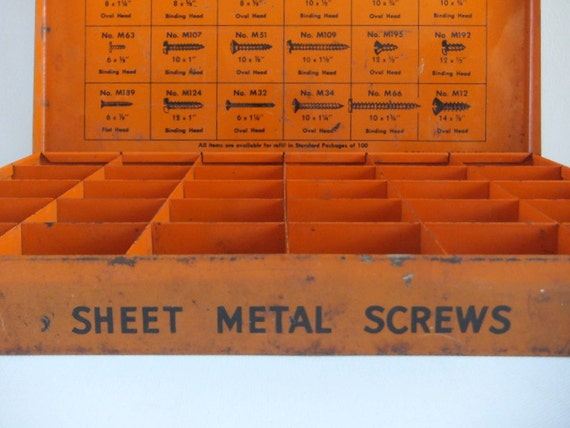 Industrial Metal Box, Orange, Dorman Products, Organizer, Fathers Day