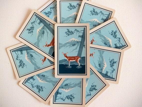 KEM Playing Cards, Deer, Double Deck in Case, 1940's-Reserved for Sepidar