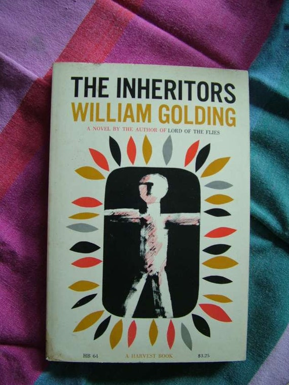 S. Neil Fujita Cover, William Golding The Inheritors,  Harvest Book 1955, Paperback Book Lord Of The Flies