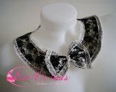 Black and white Lace Lolita Peter Pan collar