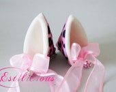 pink leopard cosplay kawaii neko cat ears with bell