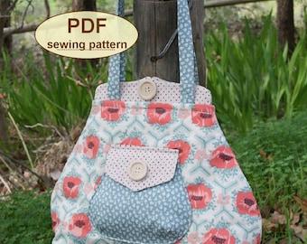 Sewing pattern to make the Premium Bond Bag - PDF pattern INSTANT DOWNLOAD