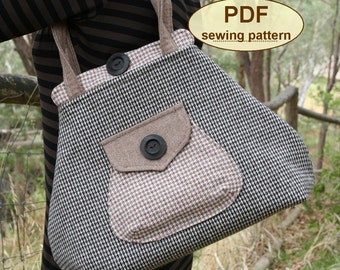 Sewing pattern to make the Premium Bond Bag - PDF sewing INSTANT DOWNLOAD