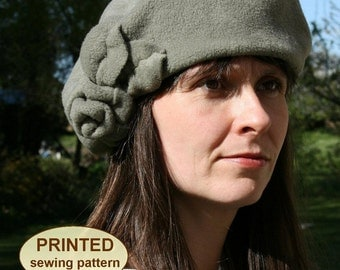 Sewing pattern to make the Baker Girl Cap and Rosy Beret - PRINTED pattern (two styles included)