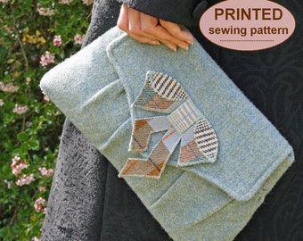 Sewing pattern to make the Ellington and Gershwin Clutch Bags - PRINTED pattern (TWO styles included)