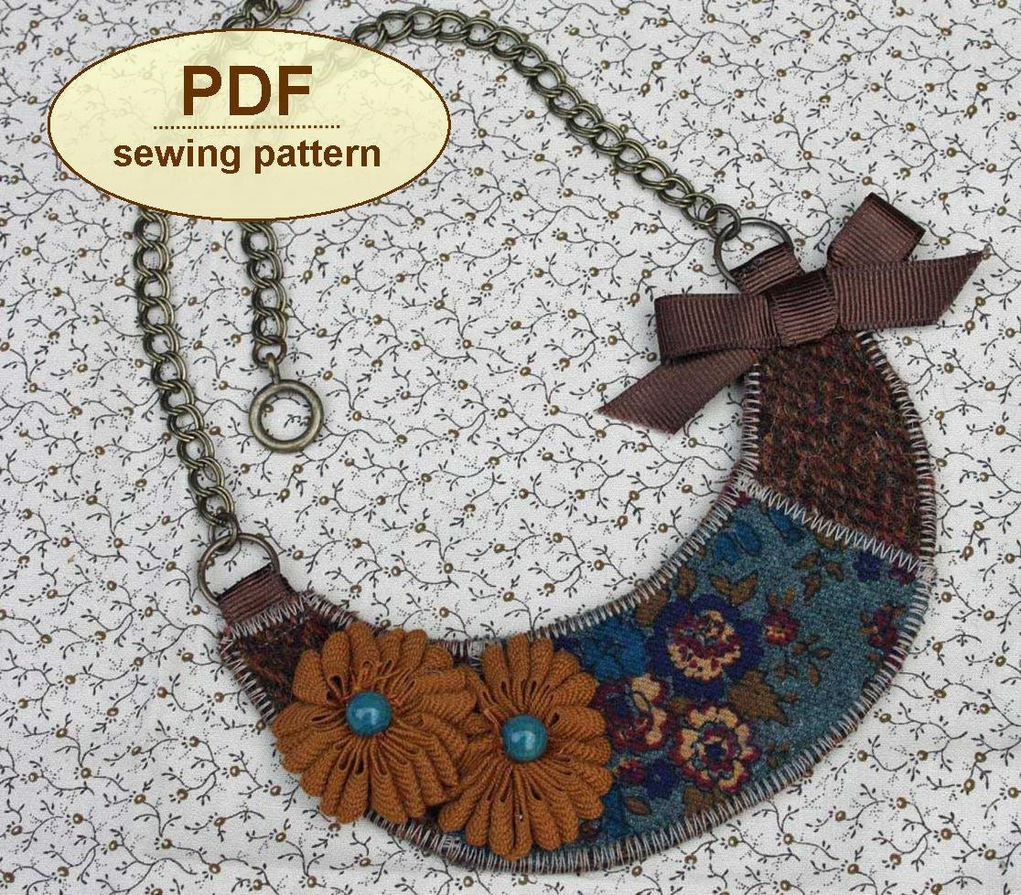 Sewing tutorial pdf with instructions and templates to