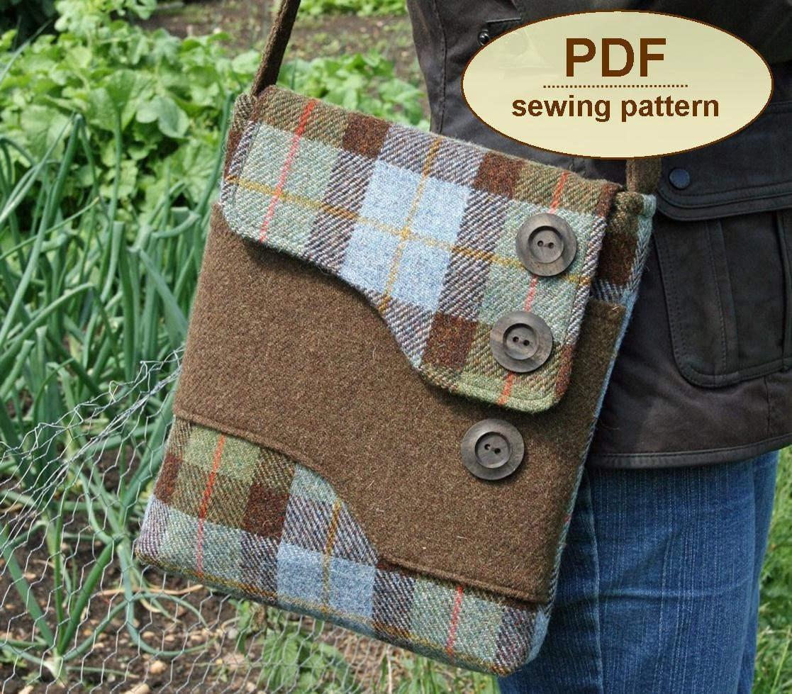 Sewing pattern to make the Melford Messenger Bag PDF pattern