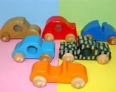 Wooden BABY Toy Cars ( Set of 6 )