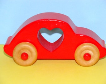 LOVE BUG Wooden Car -  a great gift idea