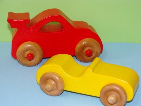 Wooden Toy Cars ( Set of 2 )