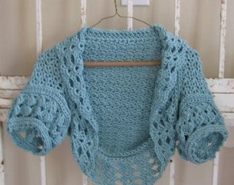 Serenity Faerie Shrug Women or Teens Cardigan Bolero Sweater Plus Sizes Weddings Mother of Bride Juniors