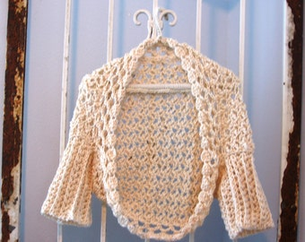 Venturesome Vanilla Sweater PDF Crochet Pattern instant download Women Teens Bolero Shrug XS-XXL Cardigan Brides Weddings Prom PP114
