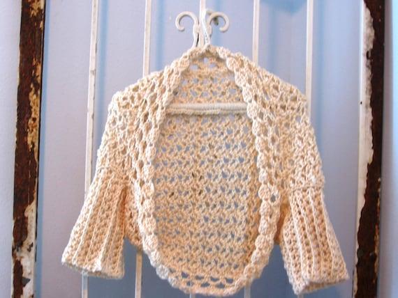 Free shipping in US Vanilla Faerie Sweater Women Teens Bolero 3/4 sleeve Shrug Cardigan Brides Weddings mother of bride