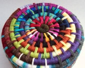 Varied -Yarn Coiled Basket