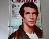 CRAWDADDY Magazine Henry Winkler Fonzie May 1976 Peter Frampton Bruce Springsteen Jim Morrison