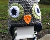 crocheted owl hat for boy