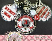 Fully Customizable Team HOCKEY Necklace with Hockey Charm, Hockey Mom, Children's Name(s)/Number, Hockey Fan, Sports Theme-TRIPLE PENDANT
