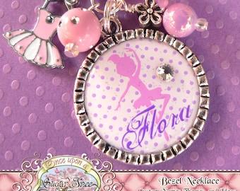 Children's Ballet Jewelry, BALLERINA NECKLACE, Ballerina Silhouette, Personalized Necklace, Ballet, Dance Recital, Tutu, Dance, Dancer