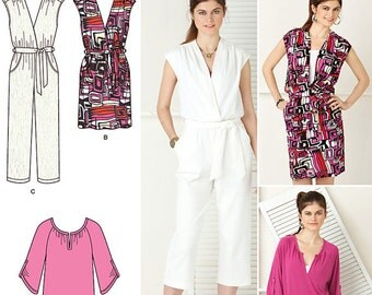 Simplicity Pattern 0446 Misses' Knit Dress, Jumpsuit and Tunic Sizes 6-14 NEW