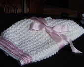 BLANKET, BABY, Oh so perfect for the new little girl.