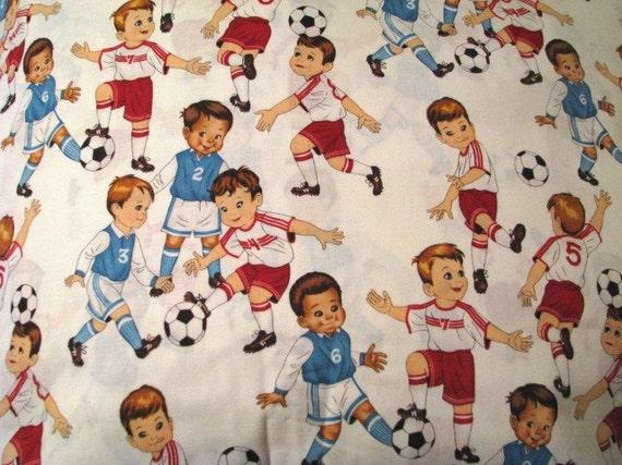 Cotton Novelty Fabric, The Juniors (soccer fabric), by Alexander Henry Fabrics