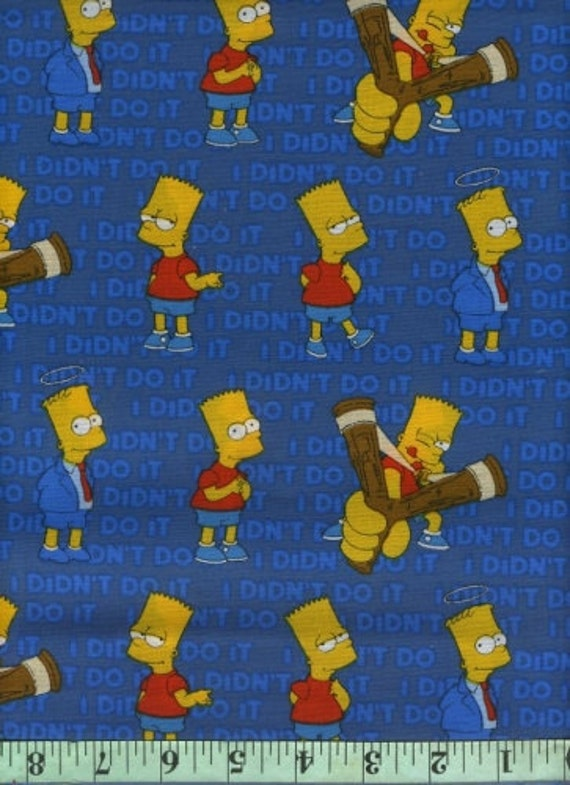 "One yard fabric, The Simpsons, ""Bart, I Didn't Do it,"" by Springs Creative"