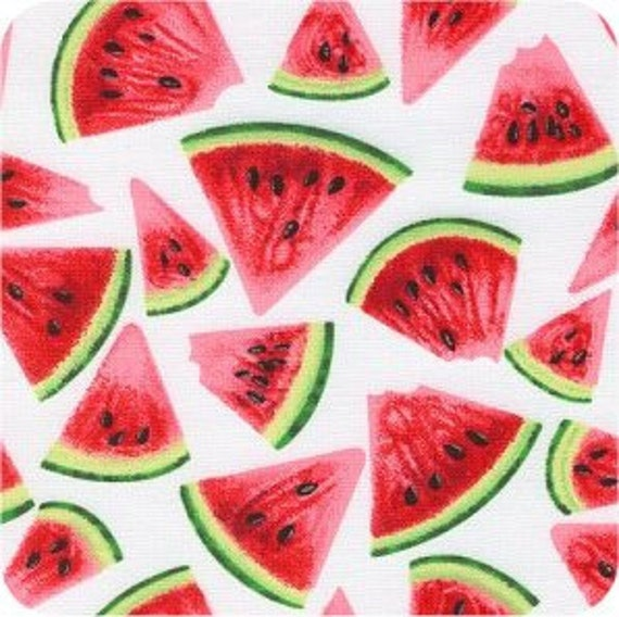 Fat Quarter, Cotton Novelty Fabric, Watermelon, by Timeless Treasures